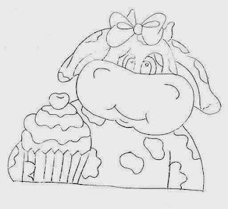 vaquinha com cupcake