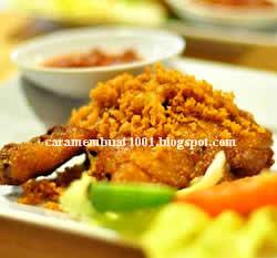 Resep Cara membuat Ayam Goreng Kremes