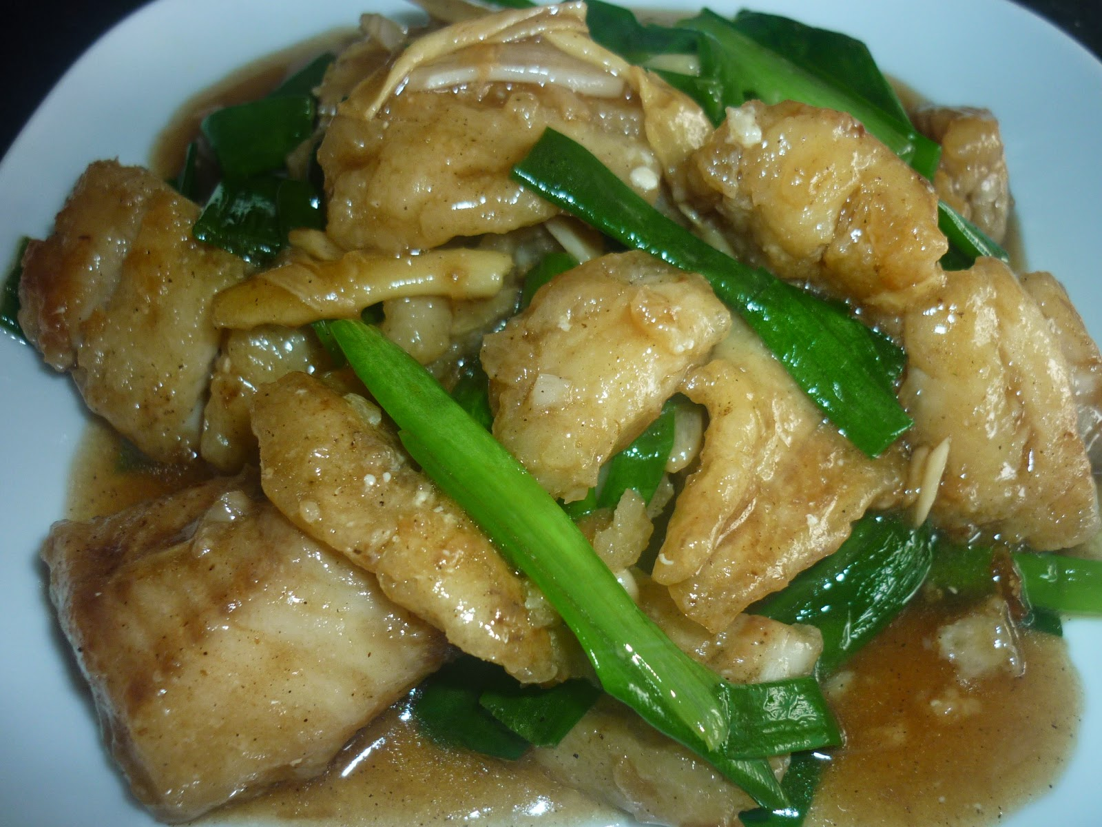 Fish ginger with spring onion for Ginger fish recipe