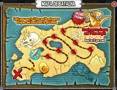 Mapa de batalhas