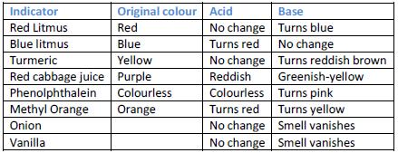 acids bases and natural indicators essay