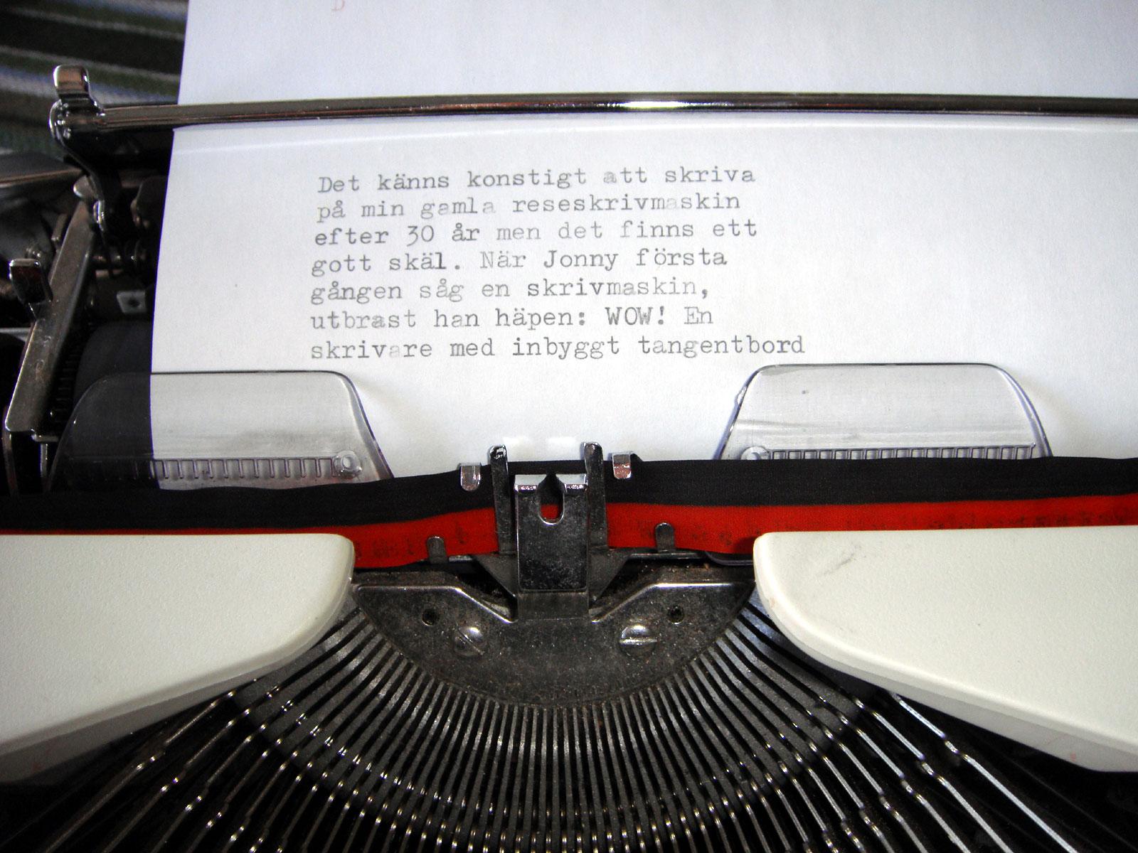 färgband till skrivmaskin