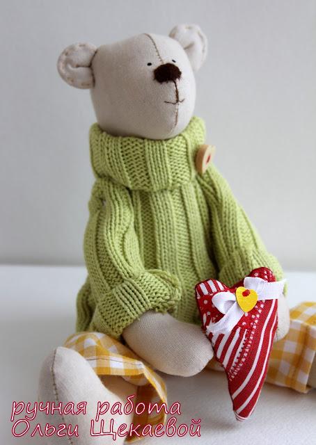 медведи, тильда, сердечко, день валентина