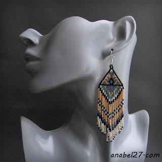 Бисерные серьги в этно-стиле - 223 / 365