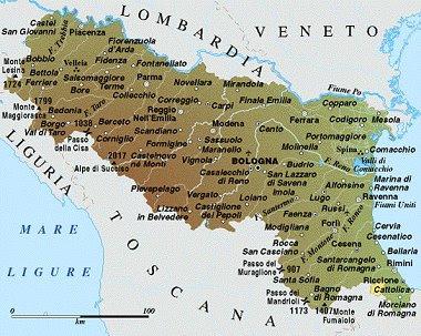 Emilia Romagna Map Political Regions