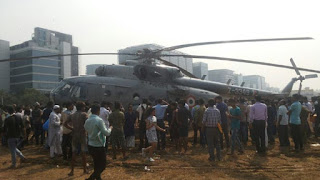 iaf chopper landed in mumbai