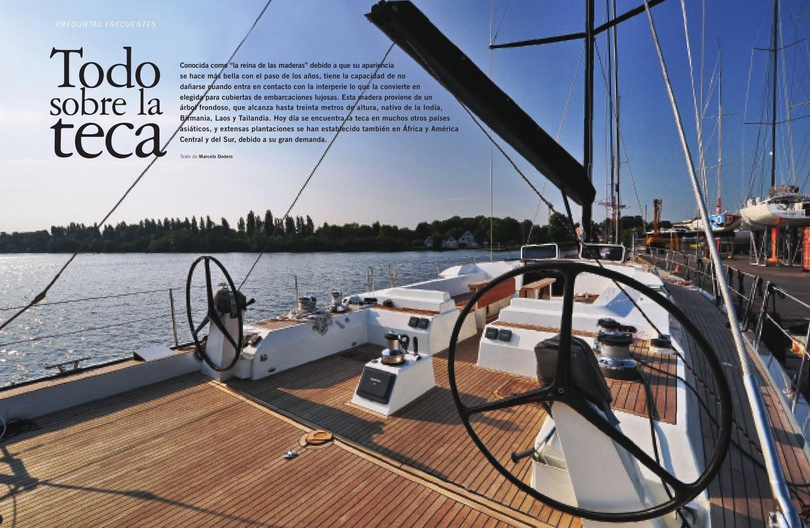 Soluciones en teca ver nota revista barcos oct 2012 - Todo sobre barcos ...