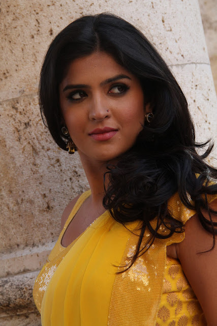 Deeksha Seth in Yellow Saree Photos