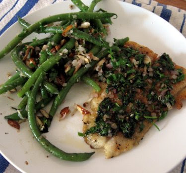 Sole meunière & green bean almondine