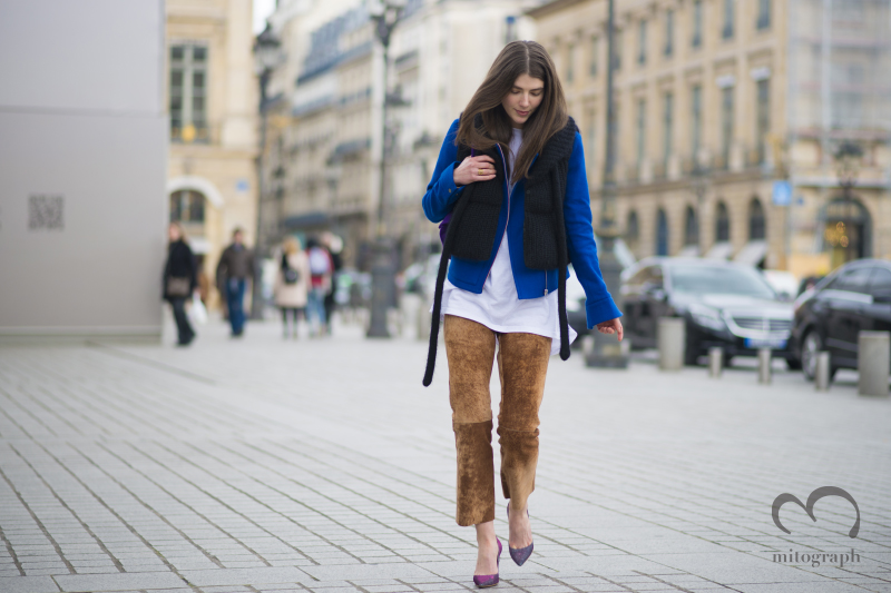 Stylist Ursina Gysi at Paris Fashion Week 2014 Fall Winter PFW