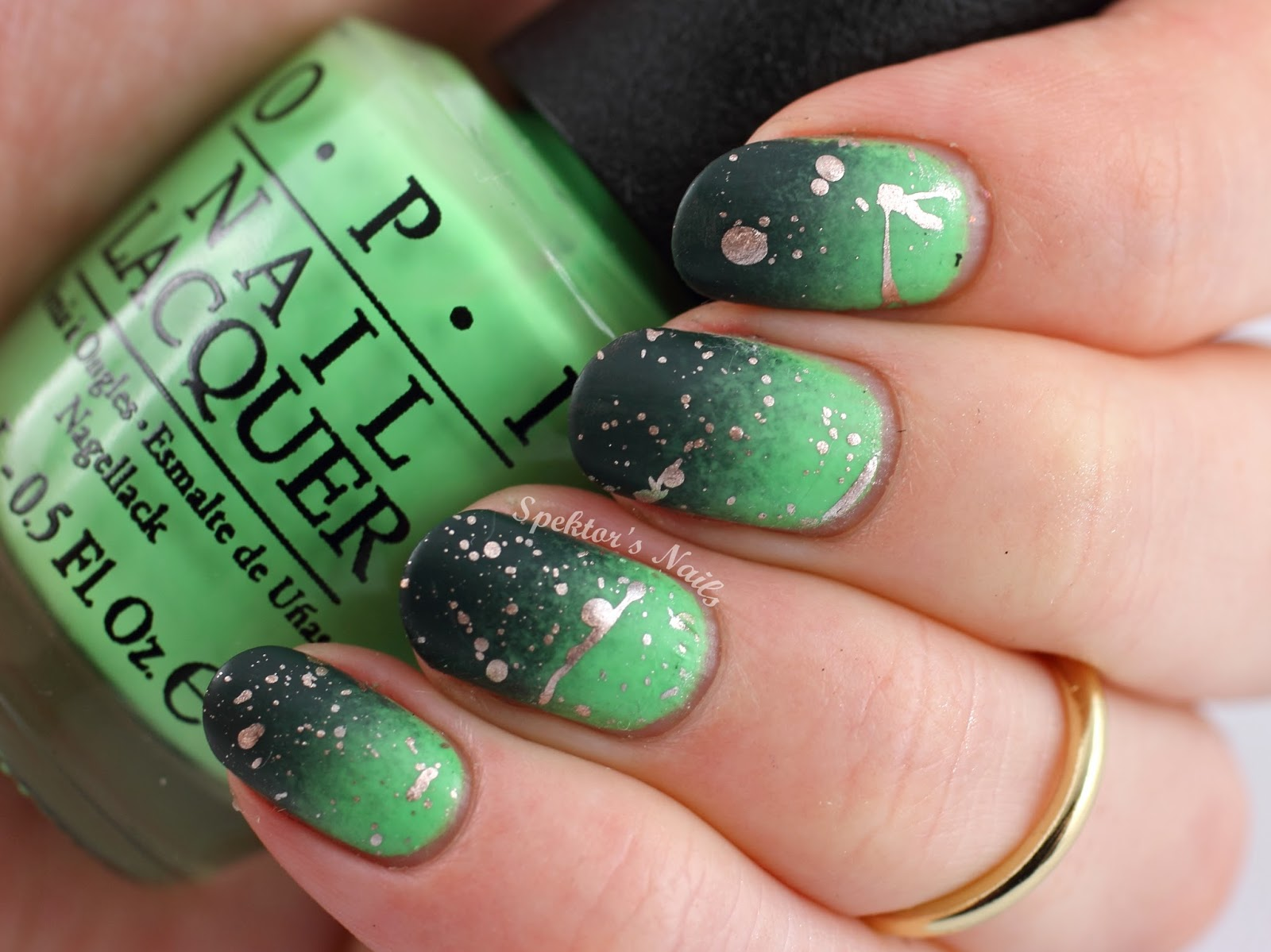 Matte Gradient Splatter Nails