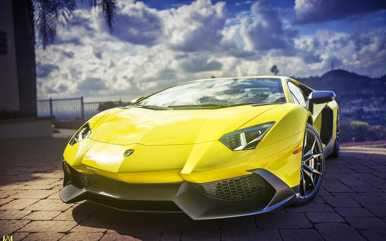 HD Lamborghini Aventador Supercar Yellow Wallpapers - HD ...