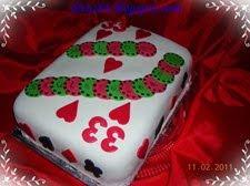 Kártyalap torta