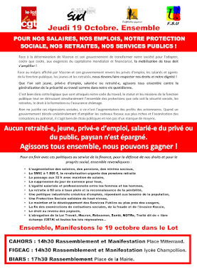 19 octobre : manifestations