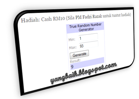Menang Giveaway Blog Fadzi Razak Launch 2015