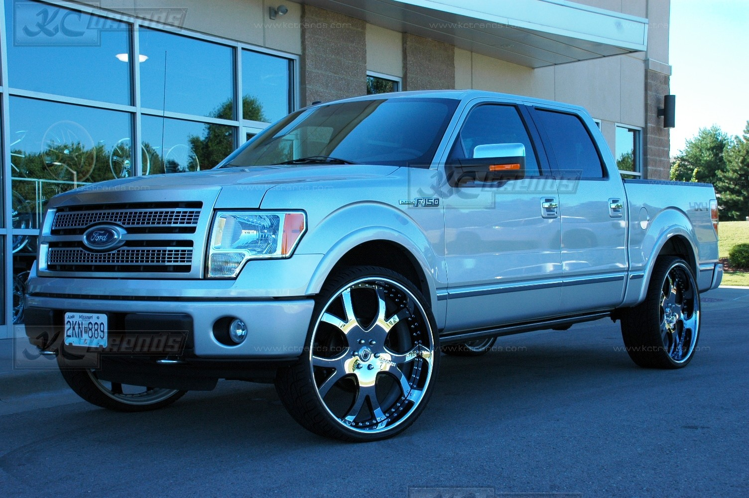2010 Ford F 150 Platinum Edition On 28 Inch Asanti Af143 Rims Only