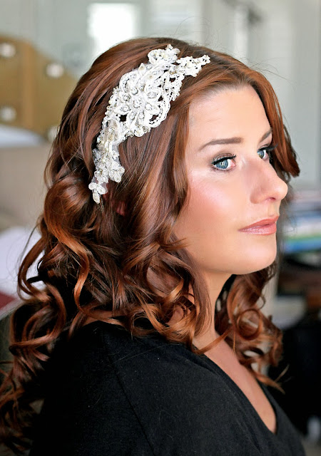 Wedding Hair Comb - vintage lace hair jewelry