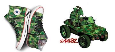 gorillaz converse, gorillazshoes, converse gorillaz green