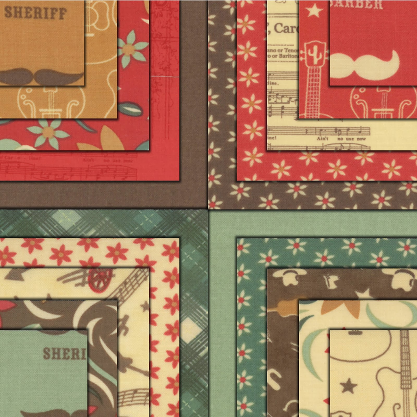 Moda HONKY TONK Quilt Fabric by Eric & Julie Comstock