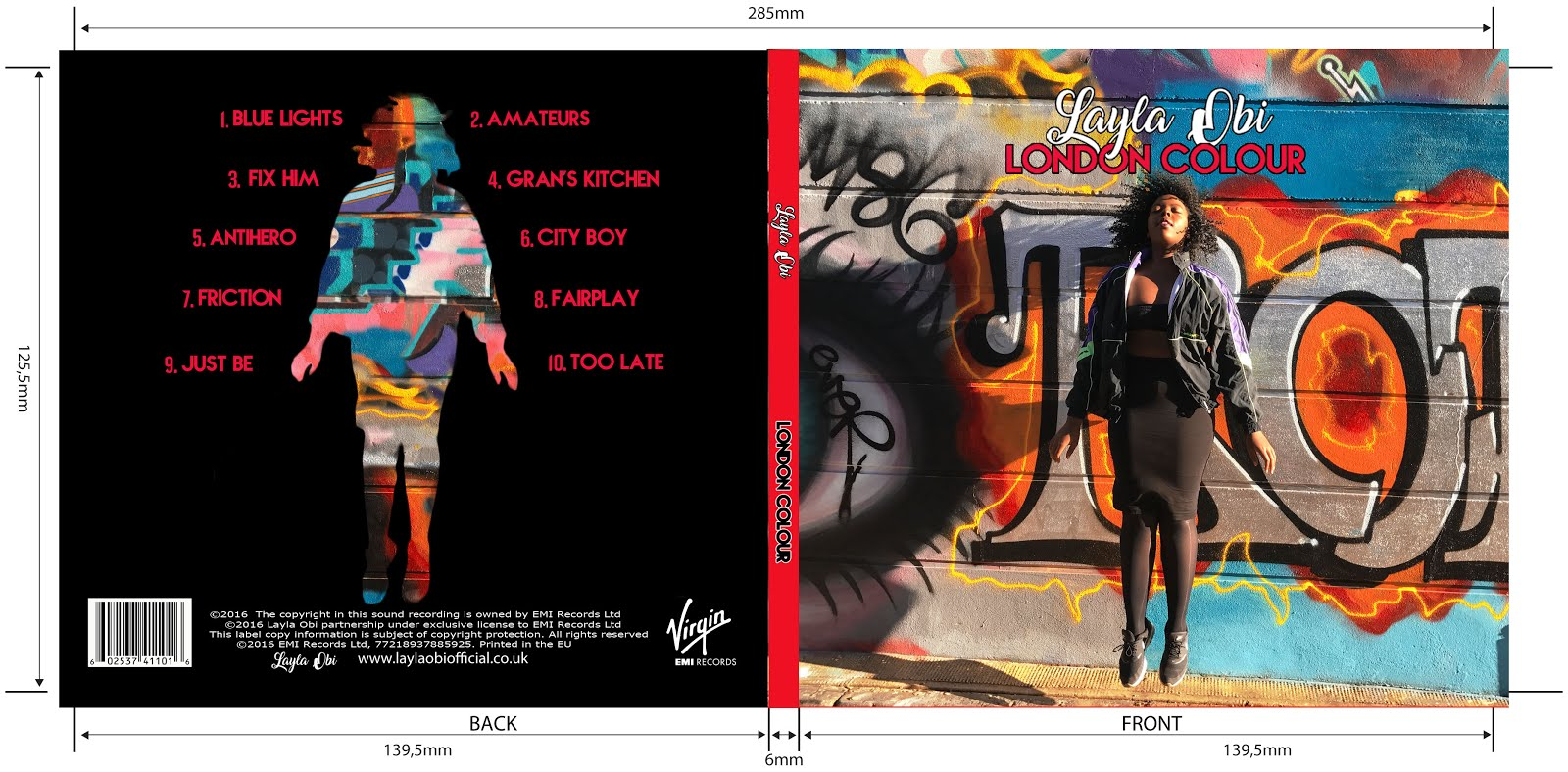 Our digipak front and back cover