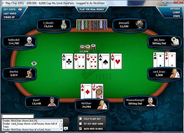 jogando poker holdem