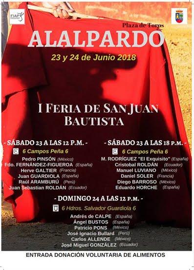 ALALPARDO (MADRI) 23 y 24 DE JUNIO 2018. 1ª FERIA DE SAN JUAN BAUTISTA.