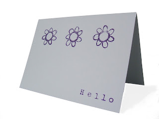 Pack of two notecards handmade