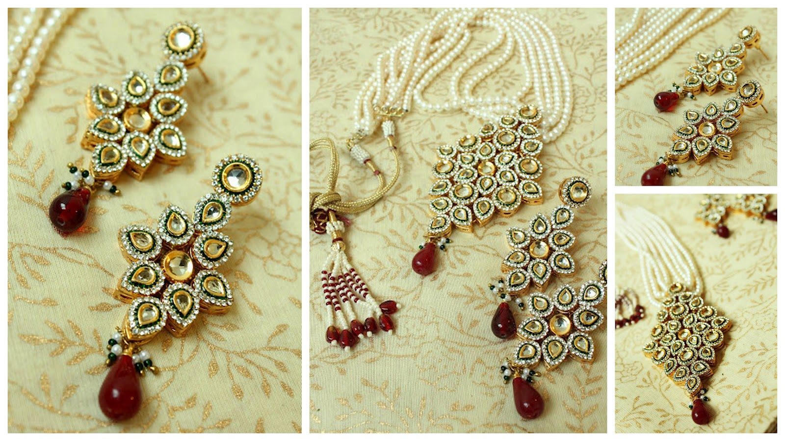 Sets pendant necklace kundan polki earrings necklace jewelry sets pendant necklace kundan polki earrings aloadofball Images
