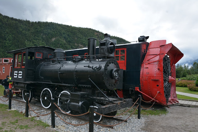 Skagway Alaska train plow