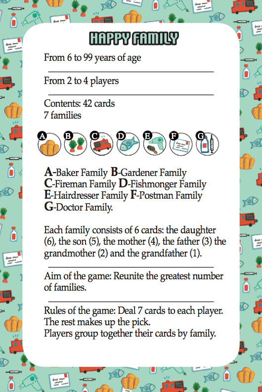 Woodland Happy Families Card Game Rules