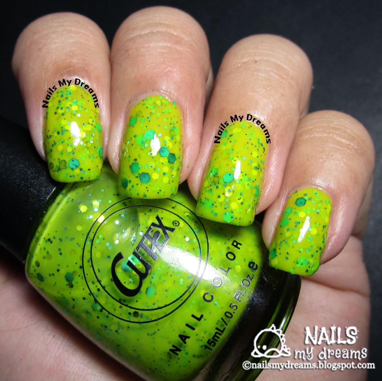 cutex lime n' licious swatch