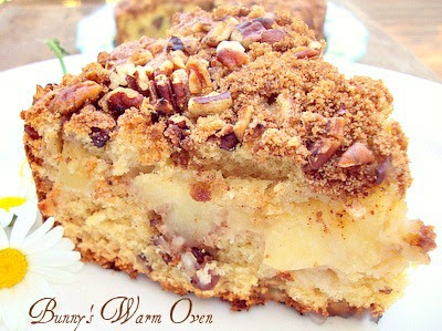 ... Sour Cream Coffee Cake, but I didn't have pears. Apples worked just
