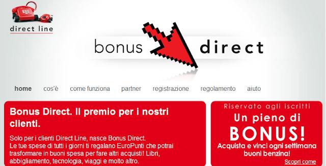 Raccolta punti online: Bonus Direct di Direct Line