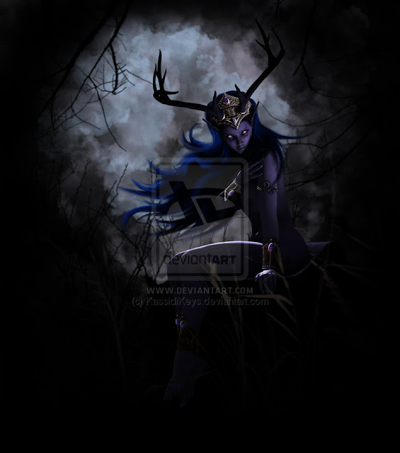 Druidess - Night Elf por KassidiKeys
