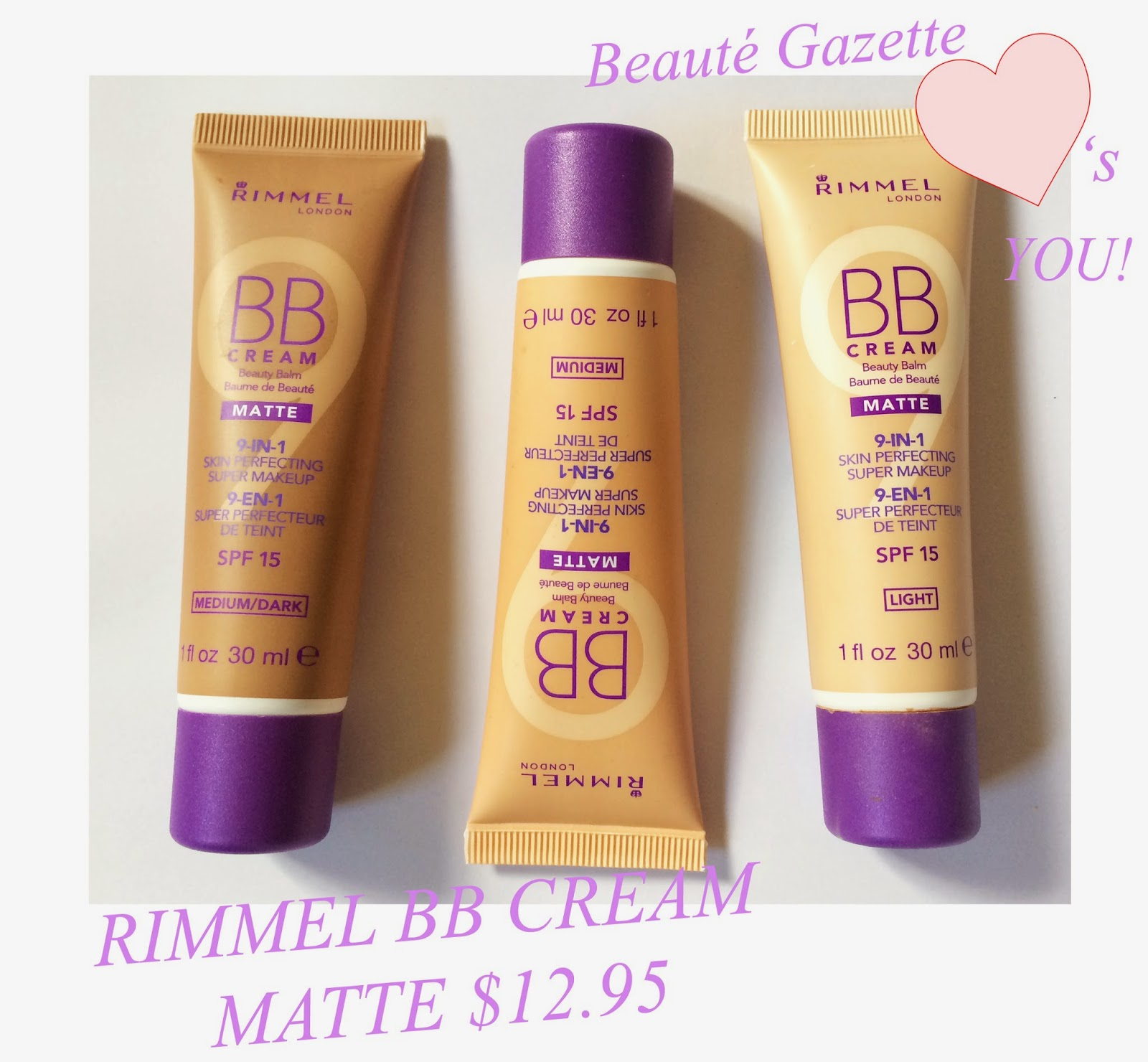 beaut gazette rimmel bb cream matte review and swatches. Black Bedroom Furniture Sets. Home Design Ideas