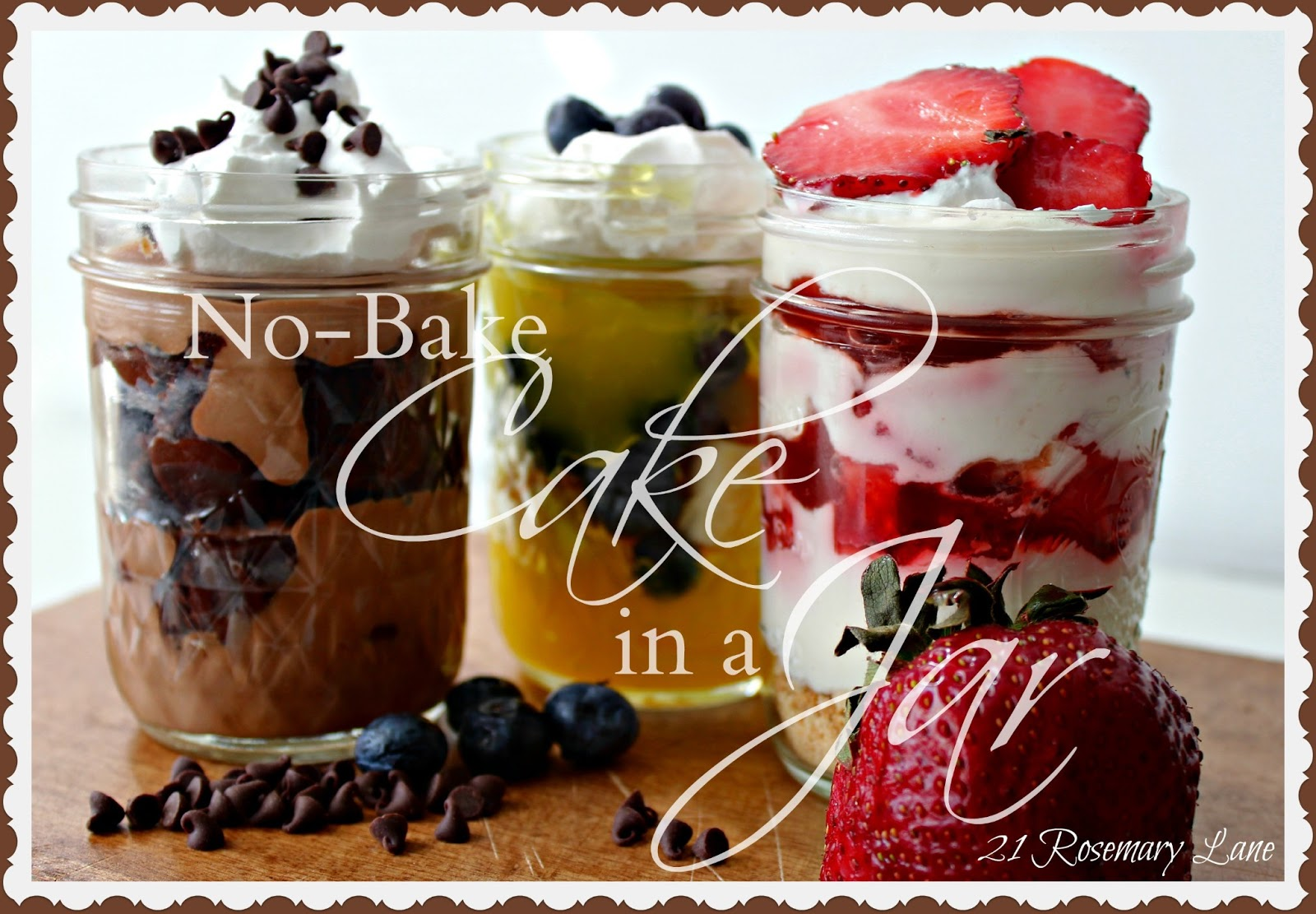 21 Rosemary Lane: All You Need is a Spoon ~ No-Bake Cakes ...