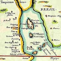 Mapa do território chamado pelos índios de Guanabara e pelos portugueses de Rio e Janeiro