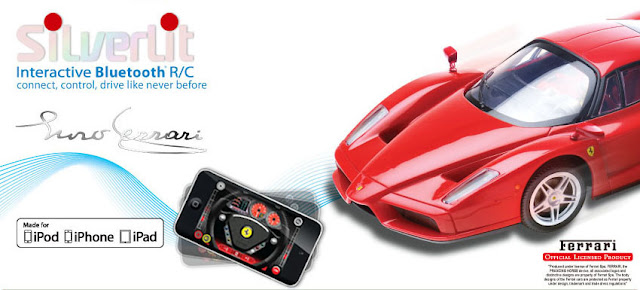 $79.95 Enzo Ferrari R/C Car At apple store iPod Accessories, App-Enabled Accessories Silverlit Interactive Bluetooth Remote Control Enzo Ferrari Car