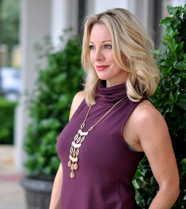 Fall fashion - Leith A-Line Turtleneck dress, Stella & Dot Kimberly necklace