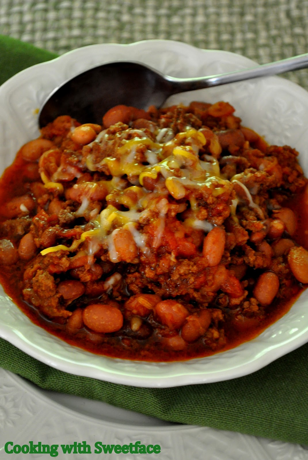 CookingwithSweetface: Pork and Beef Three Bean Chili