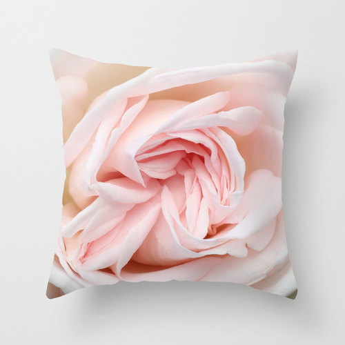 home decor - blush white rose pillow / catherine masi