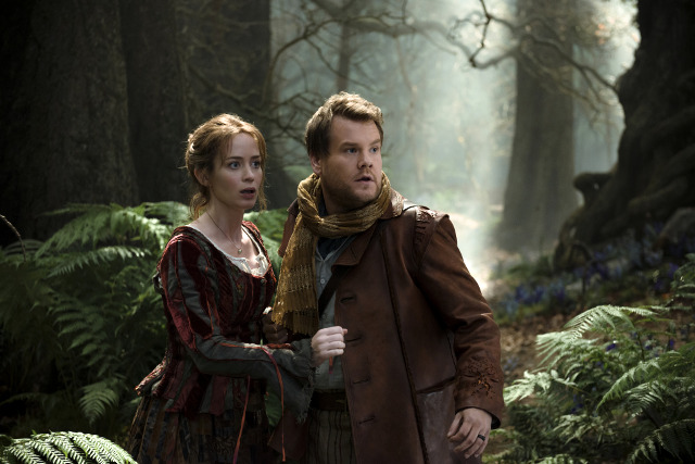James Corden and Emily Blunt in Into the Woods