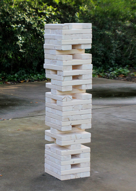 winsome ideas of making backyard jenga from wooden material high size design