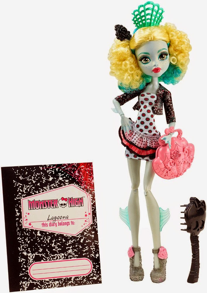 JUGUETES - MONSTER HIGH  Monster Exchange | Monstruo Intercambio  Lagoona Blue viaja a España | Muñeca - doll  Mattel CDC37 | Toys 2015 | A partir de 6 años