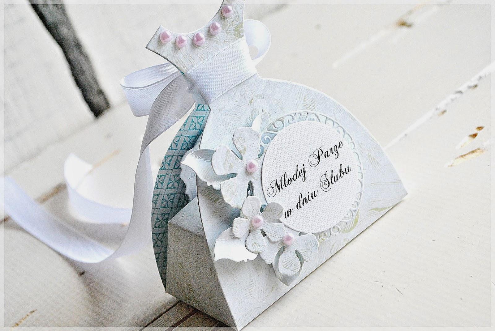pudełko ślubne w kształcie sukni Bigz Big Shot Pro Die - Dress Box