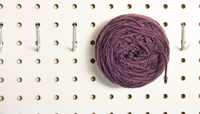 Yarn Storage Peg Board by The Dapper Toad
