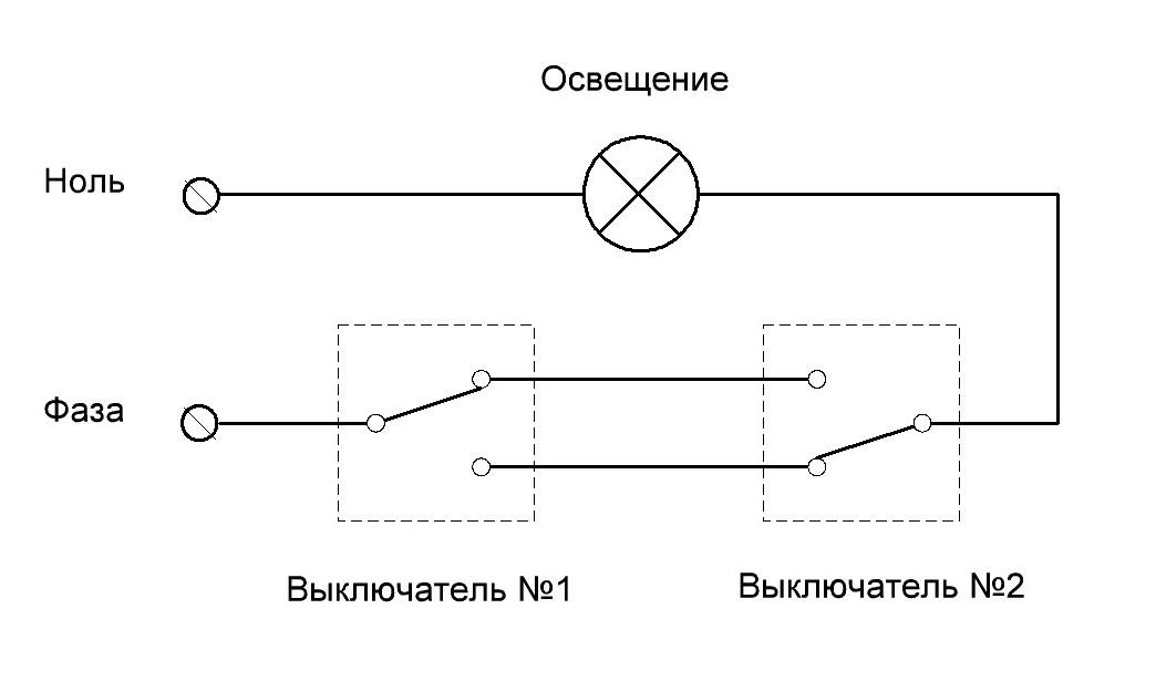 Монтаж проходных выключателей