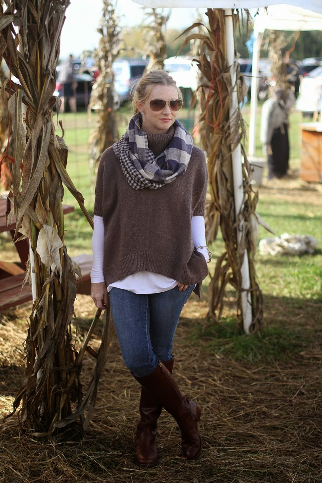 old navy tunic sweater, shop sosie, jbrand jeans, tory burch boots, ray ban sunnies, loft sweater