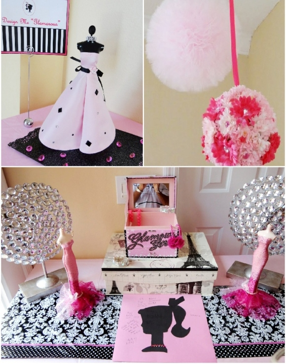 Black And Pink Birthday Decor Idea Pictures to Pin on Pinterest