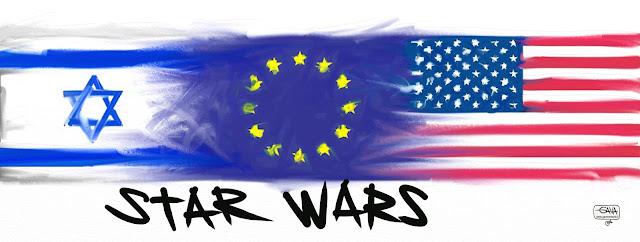 America Usa Europa Israele Gava Satira Vignette
